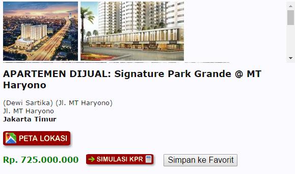 harga signature park grande